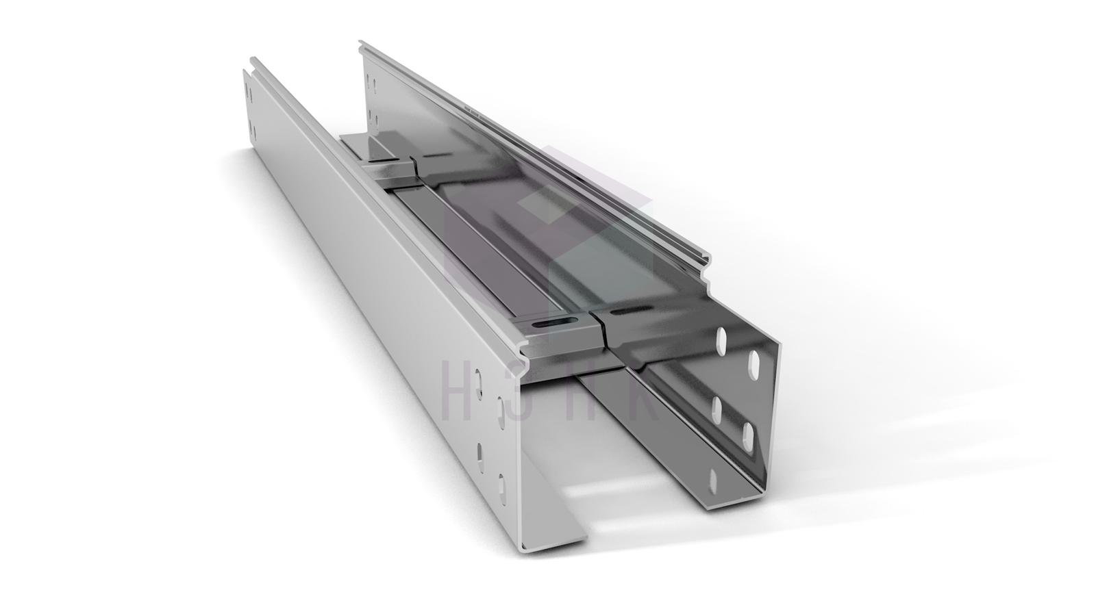 Лоток лестничный 100X80X3000(1.2) нержавеющая сталь