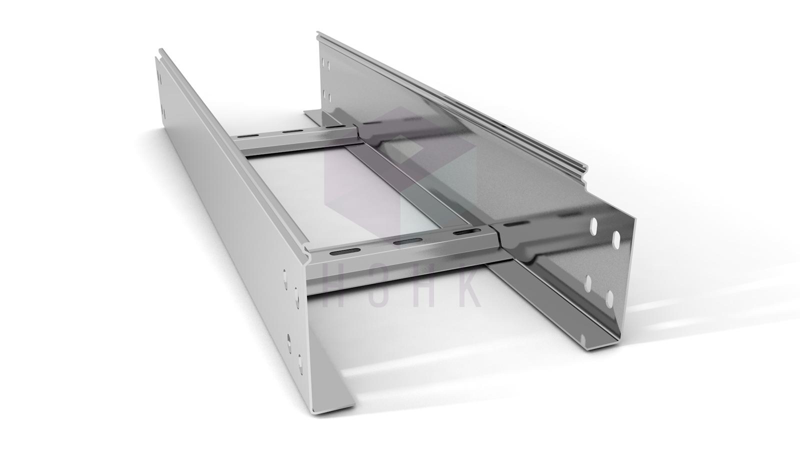 Лоток лестничный 200X100X3000(1.5) нержавеющая сталь