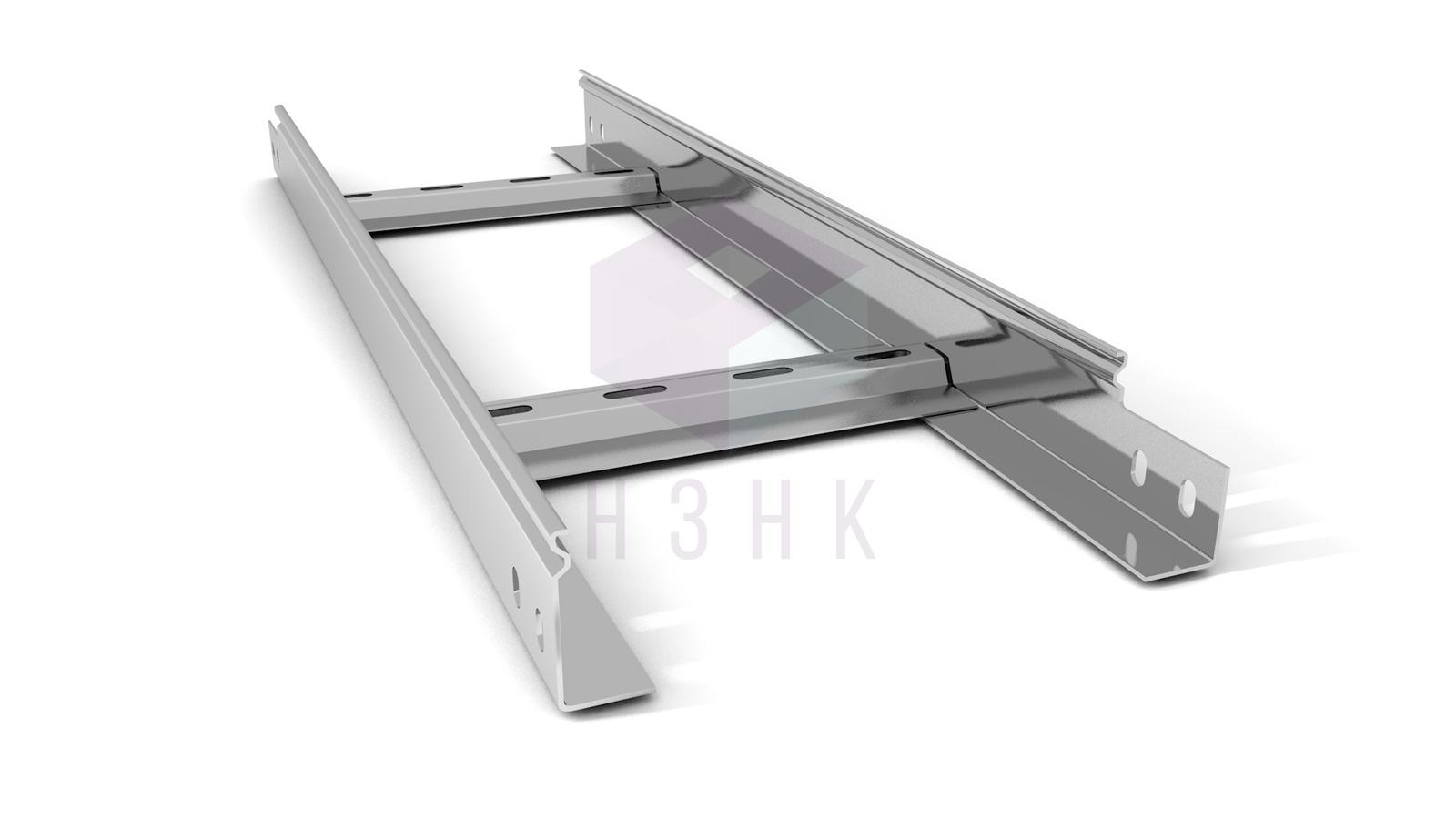 Лоток лестничный 200X50X2500(1.5) нержавеющая сталь