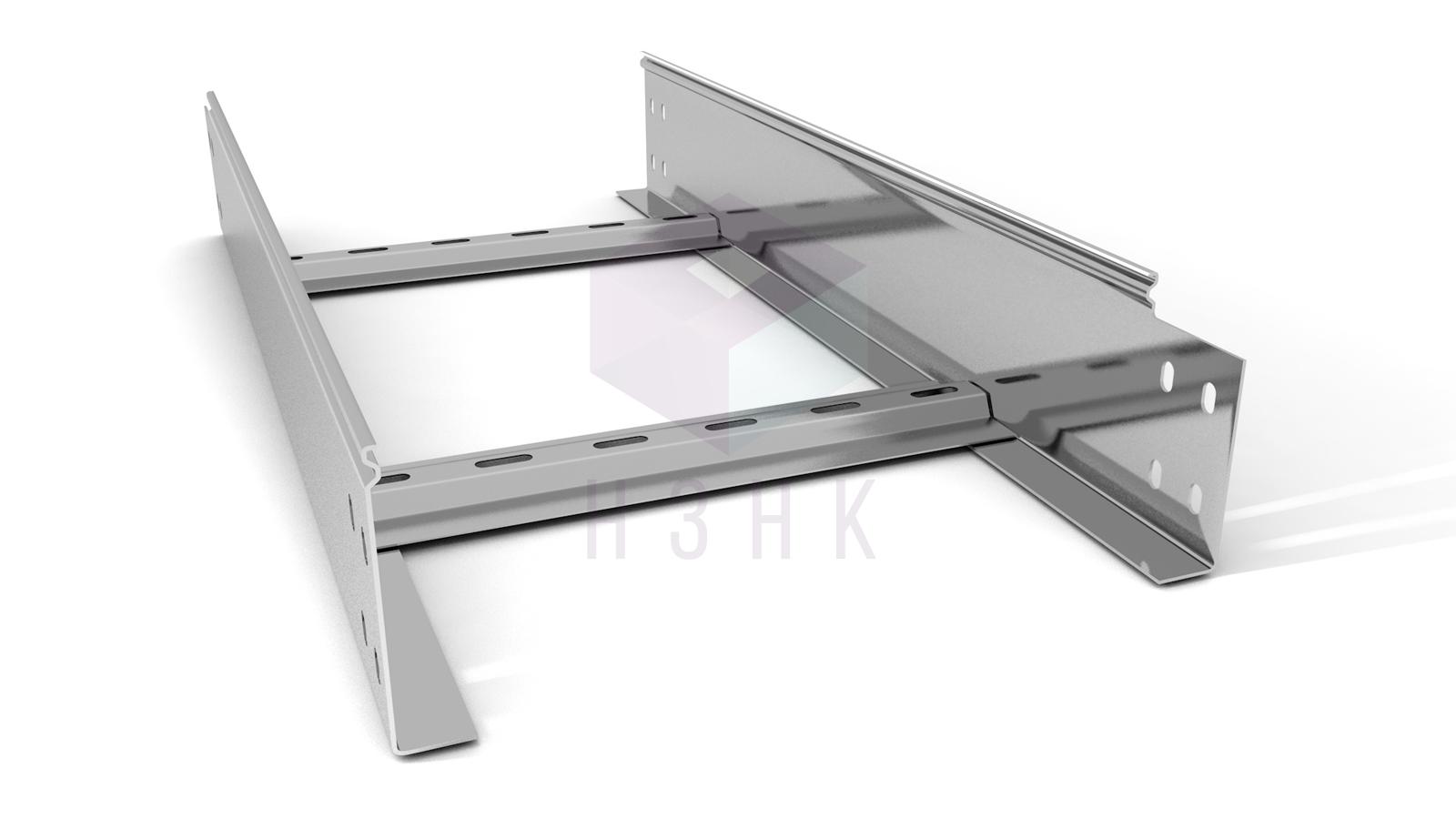 Лоток лестничный 300X100X3000(1.5) нержавеющая сталь