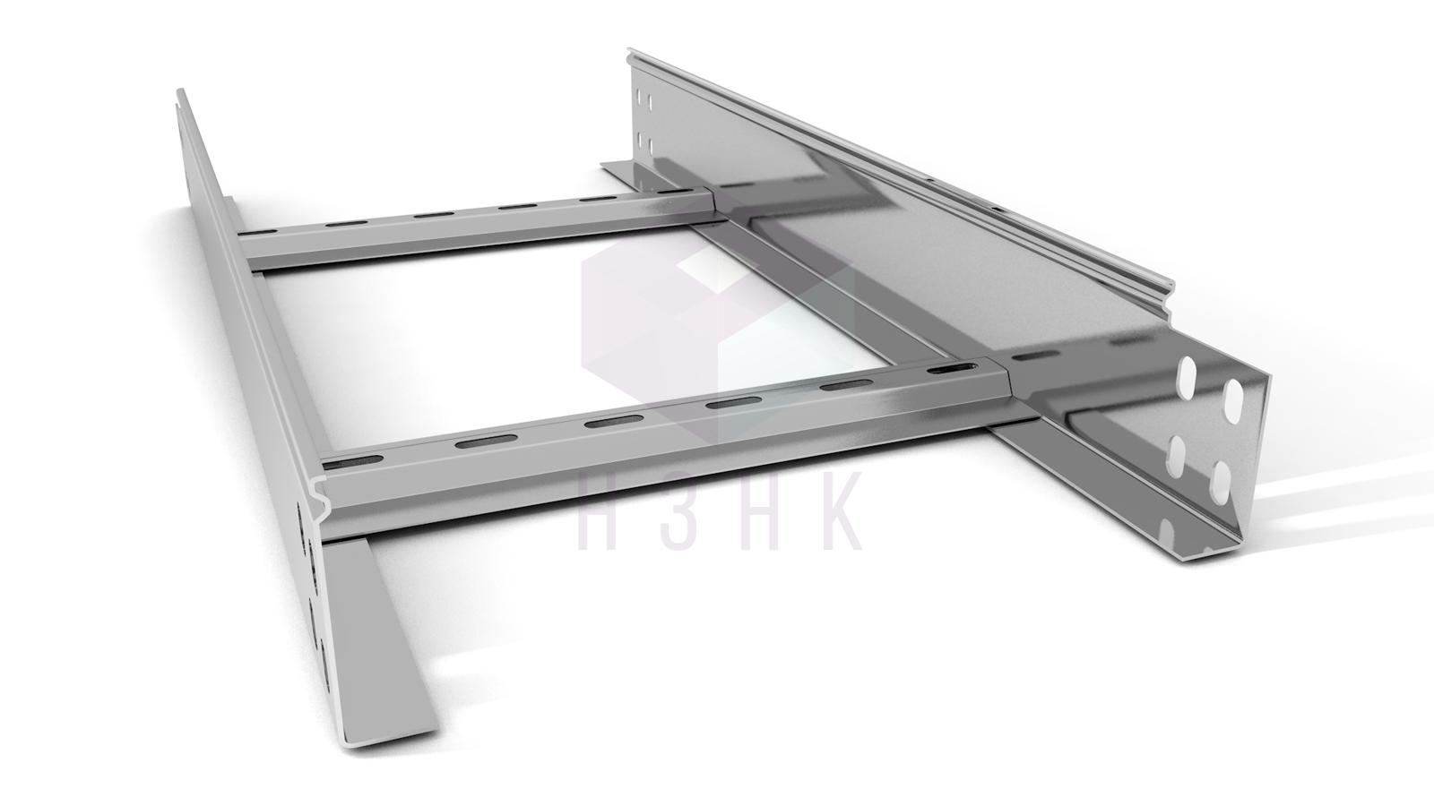 Лоток лестничный 300X80X3000(1.5) нержавеющая сталь
