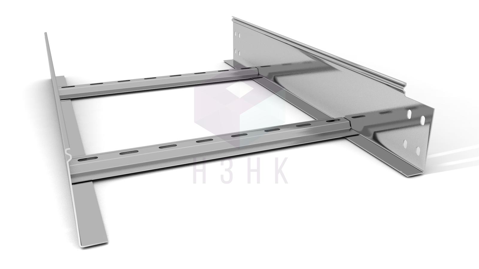 Лоток лестничный 400X100X2500(1.5) нержавеющая сталь