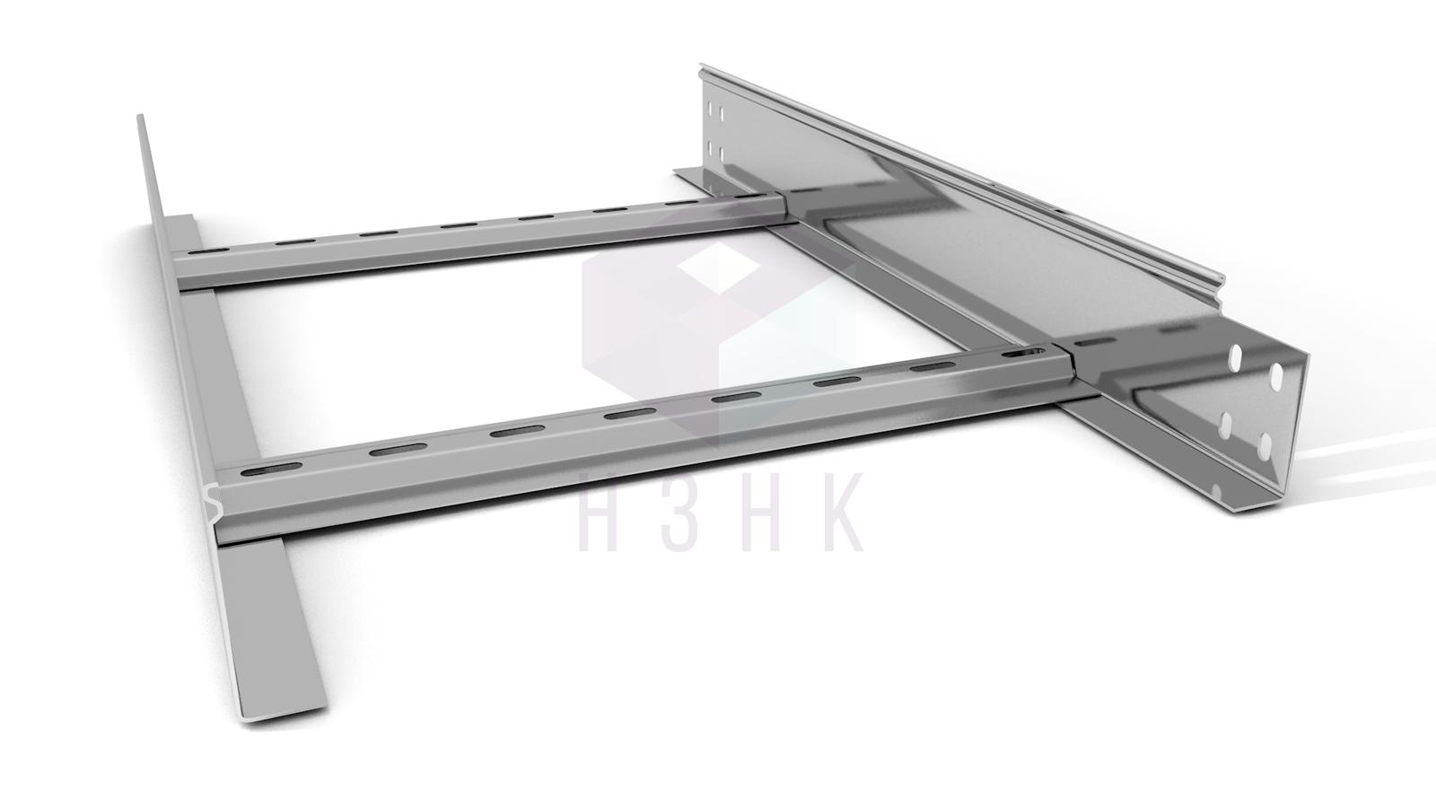 Лоток лестничный 400X80X2000(1.5) нержавеющая сталь