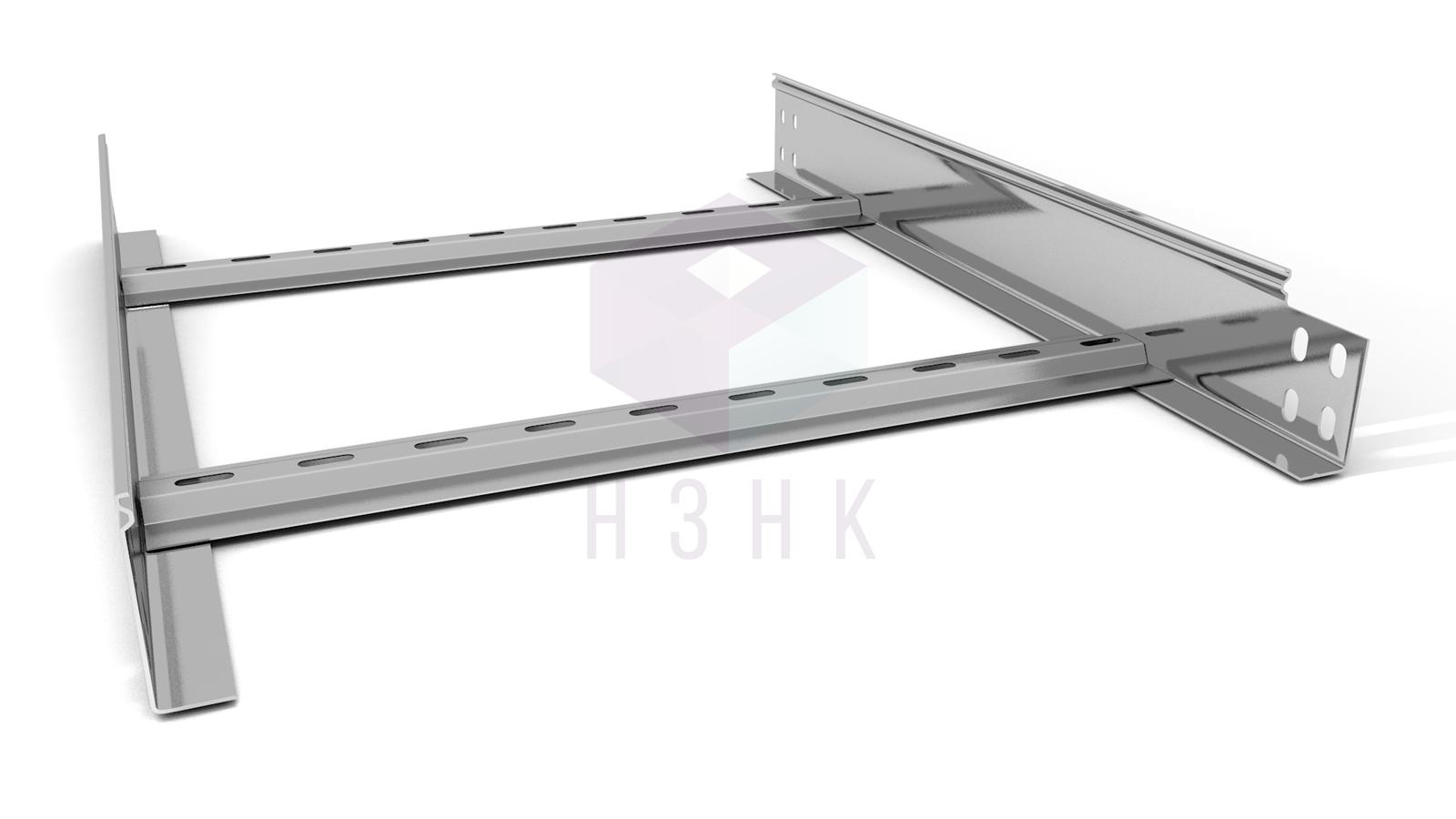 Лоток лестничный 500X80X2500(1.5) нержавеющая сталь