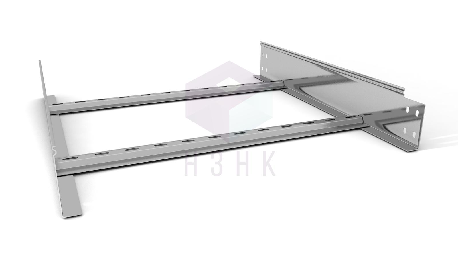 Лоток лестничный 600X100X2000(1.5) нержавеющая сталь