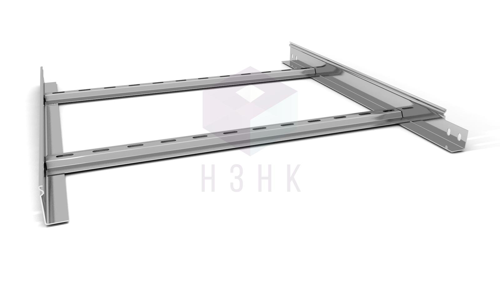Лоток лестничный 600X50X2500(1.2) нержавеющая сталь