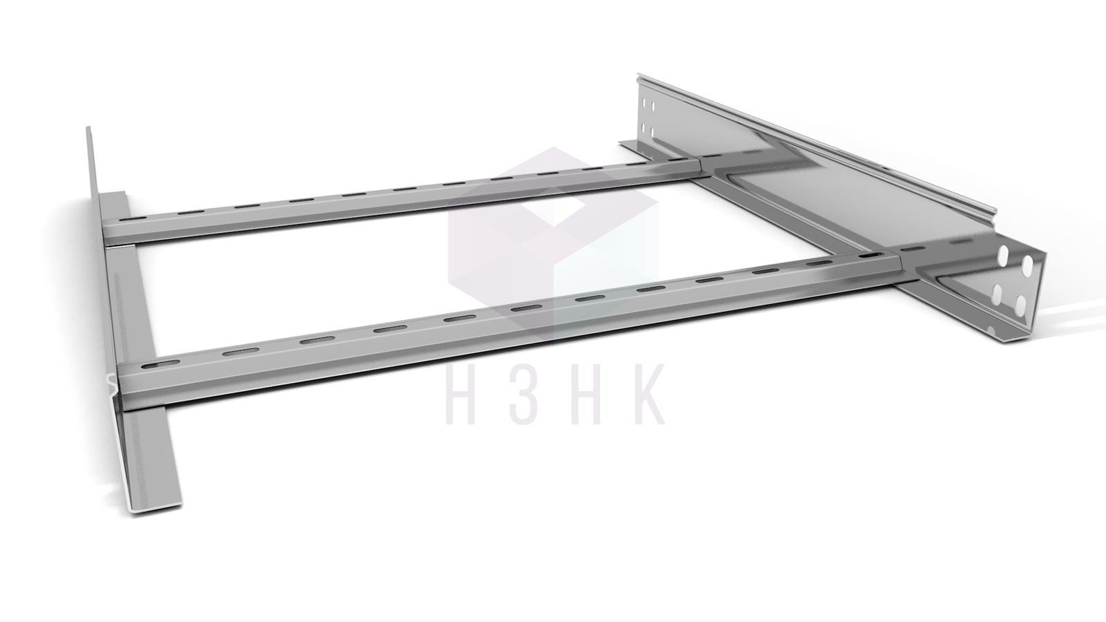 Лоток лестничный LLZ 600X80X3000(1.5) оцинкованный