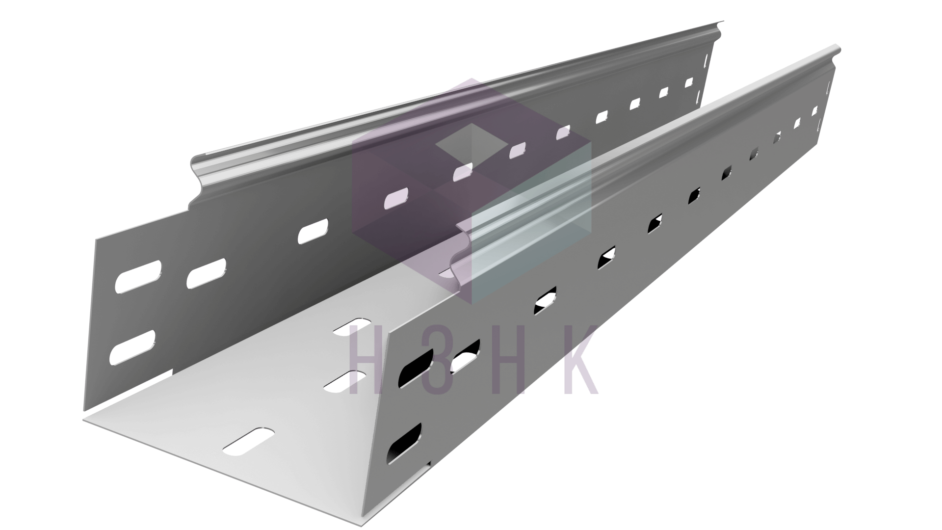 Лоток перфорированный 100Х80Х3000(0.7) оцинкованный