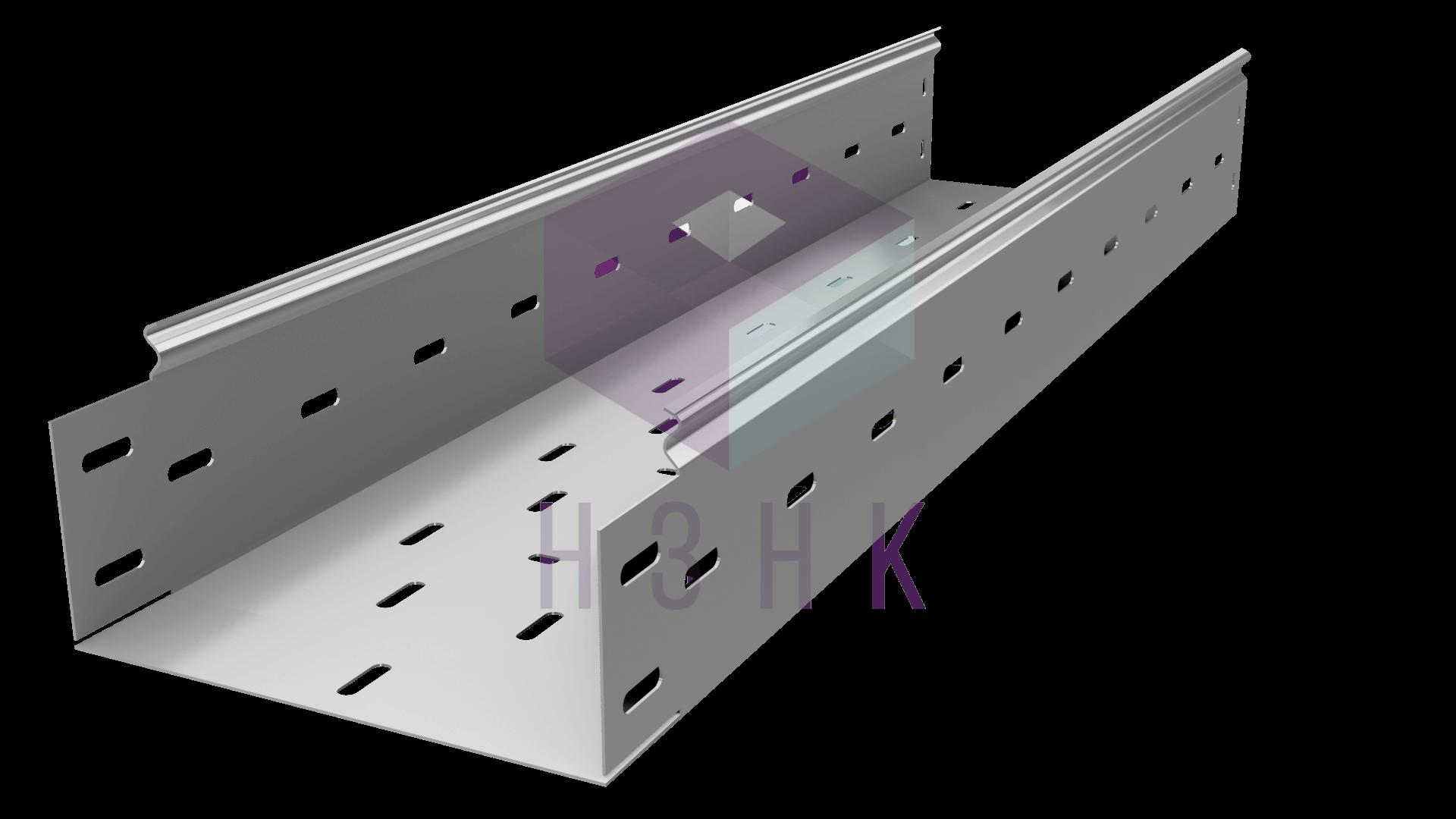 Лоток перфорированный 200Х100Х3000(0.8) нержавеющая сталь
