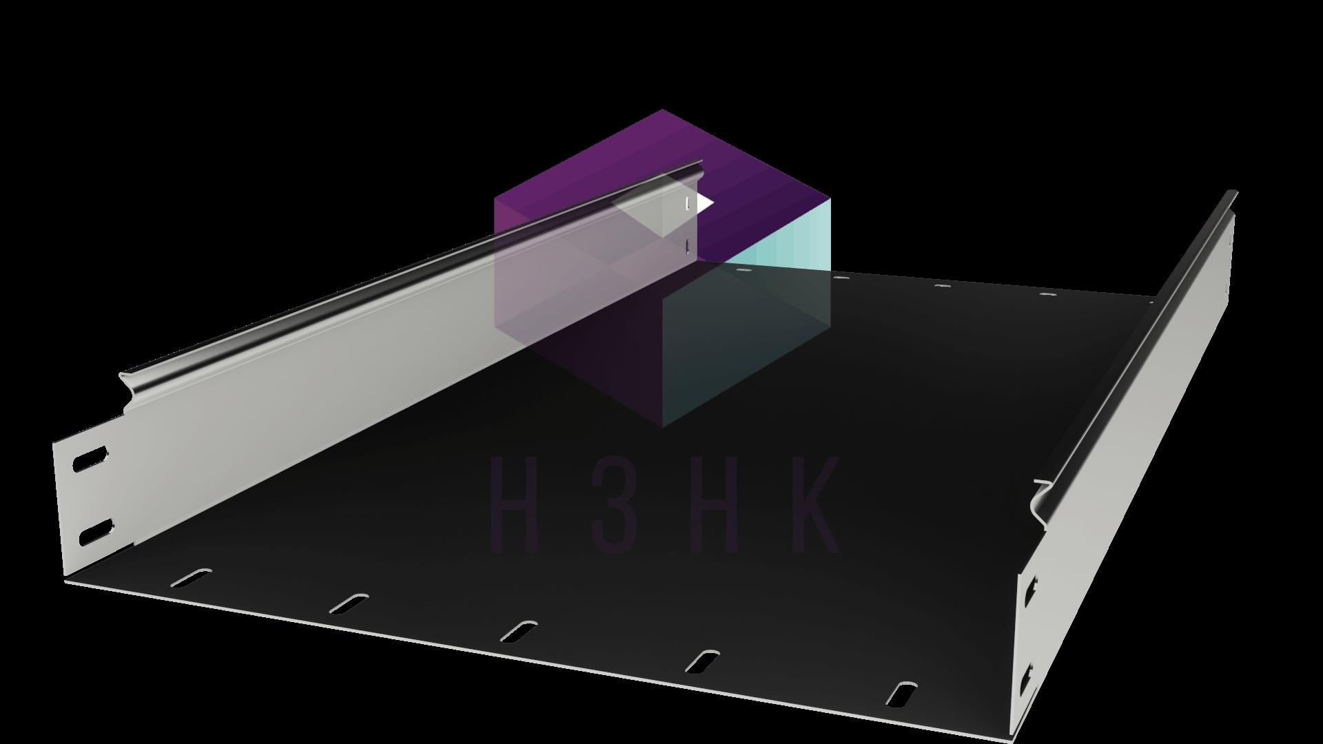 Лоток глухой 400Х80Х3000(1.0) нержавеющая сталь