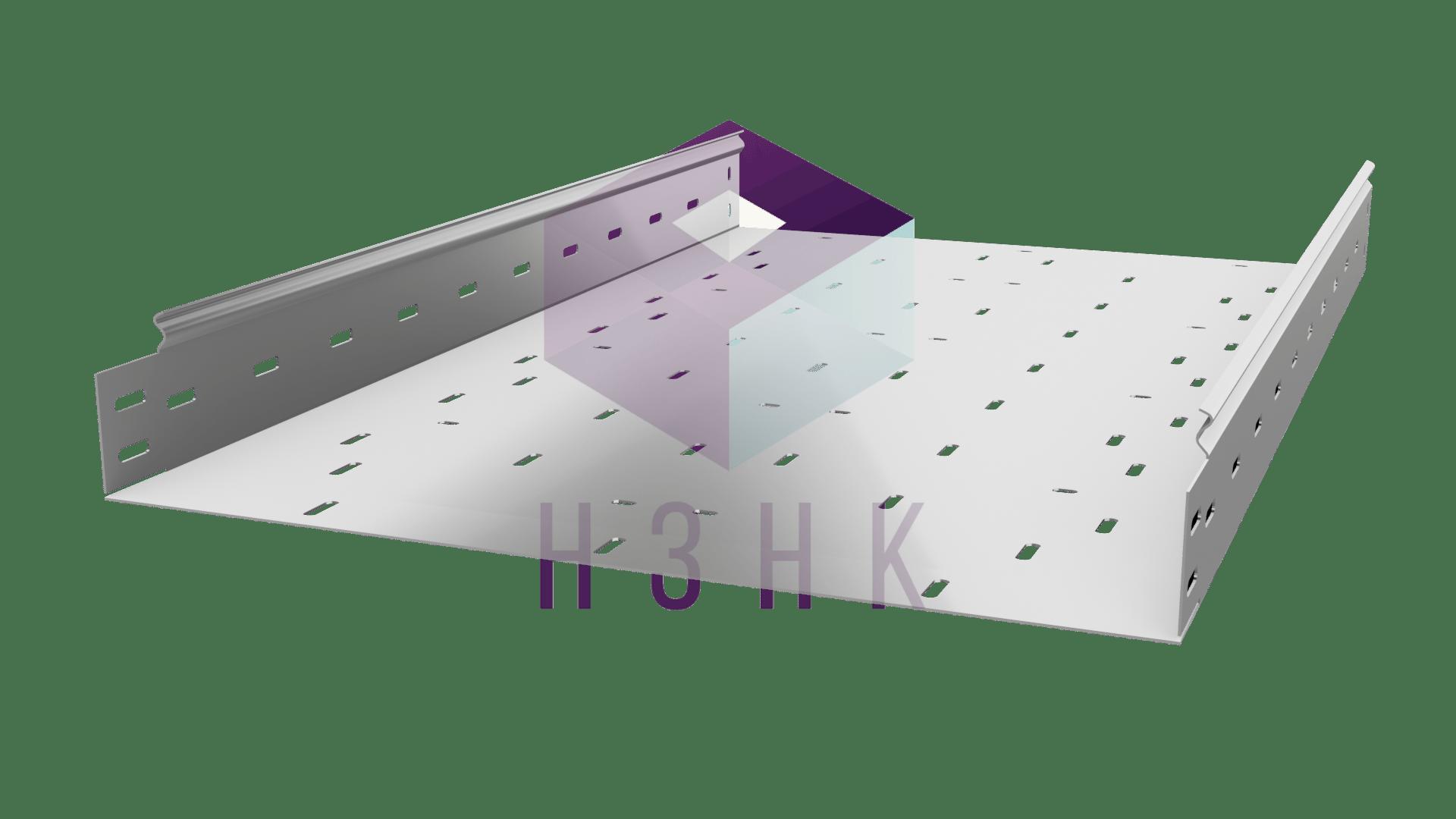 Лоток перфорированный LPZ500Х80Х3000(1.2) нержавеющая сталь