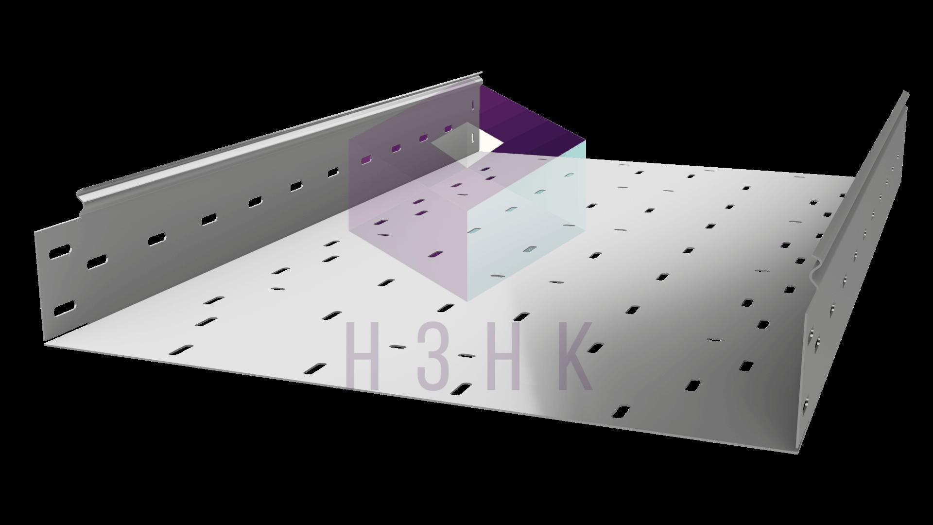 Лоток перфорированный 500Х100Х2500(1.2) нержавеющая сталь