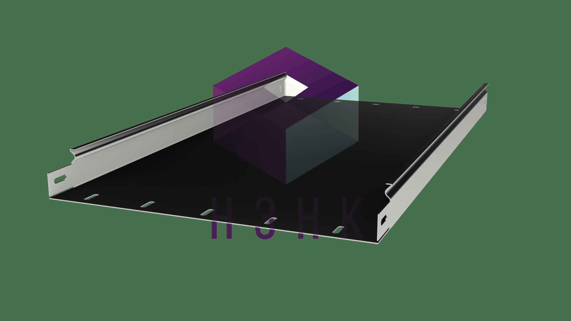 Лоток глухой 400Х50Х3000(1.0) нержавеющая сталь