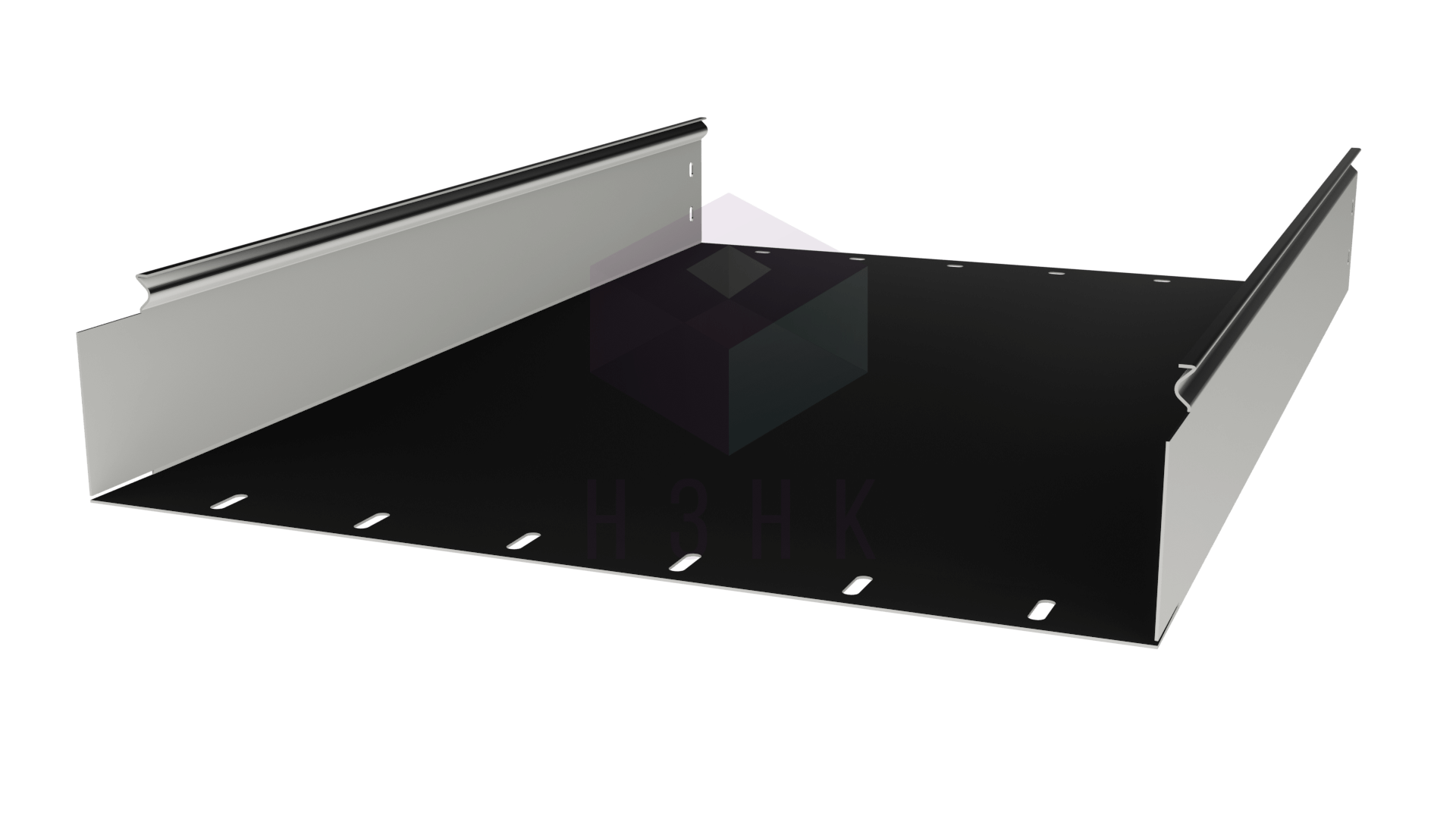 Лоток глухой 500Х100Х2000(1.2) нержавеющая сталь