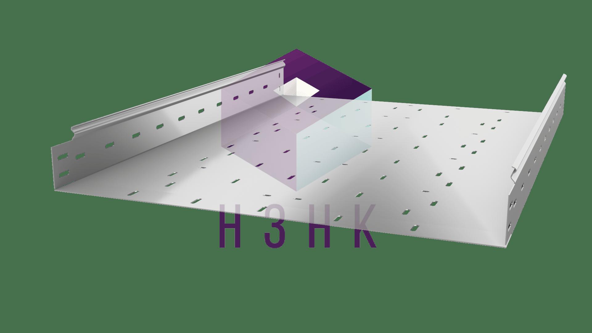 Лоток перфорированный 600Х80Х3000(1.2) нержавеющая сталь