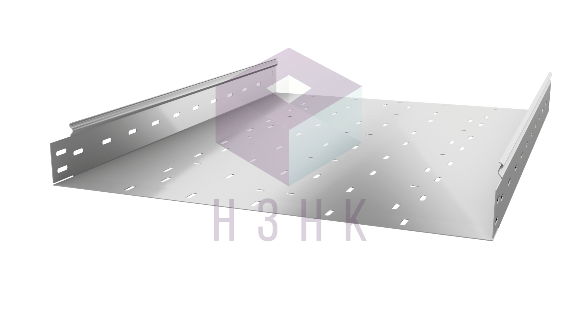 Лоток перфорированный 600Х80Х3000(1.2) горячий цинк