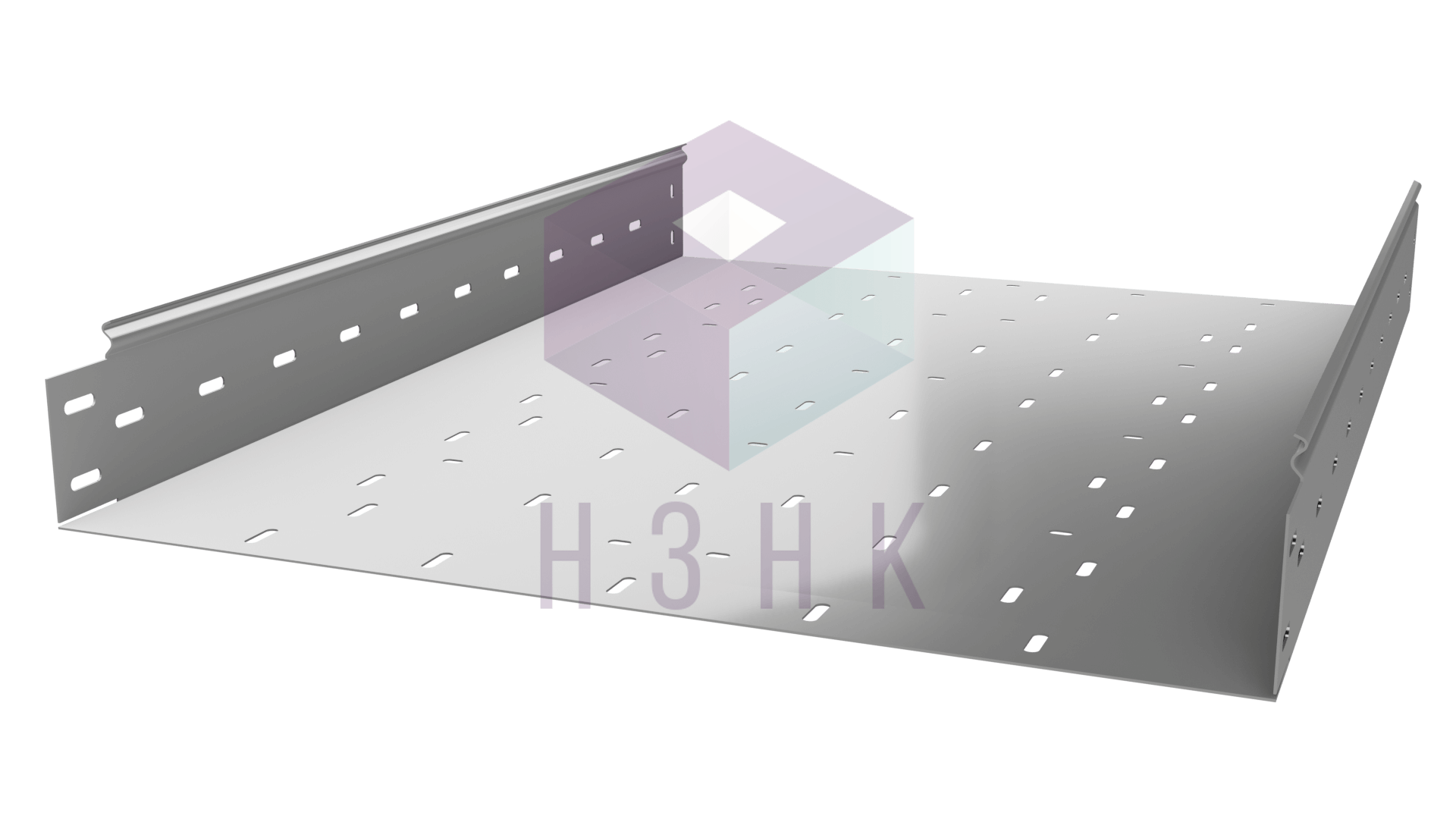 Лоток перфорированный 600Х100Х3000(1.2) нержавеющая сталь
