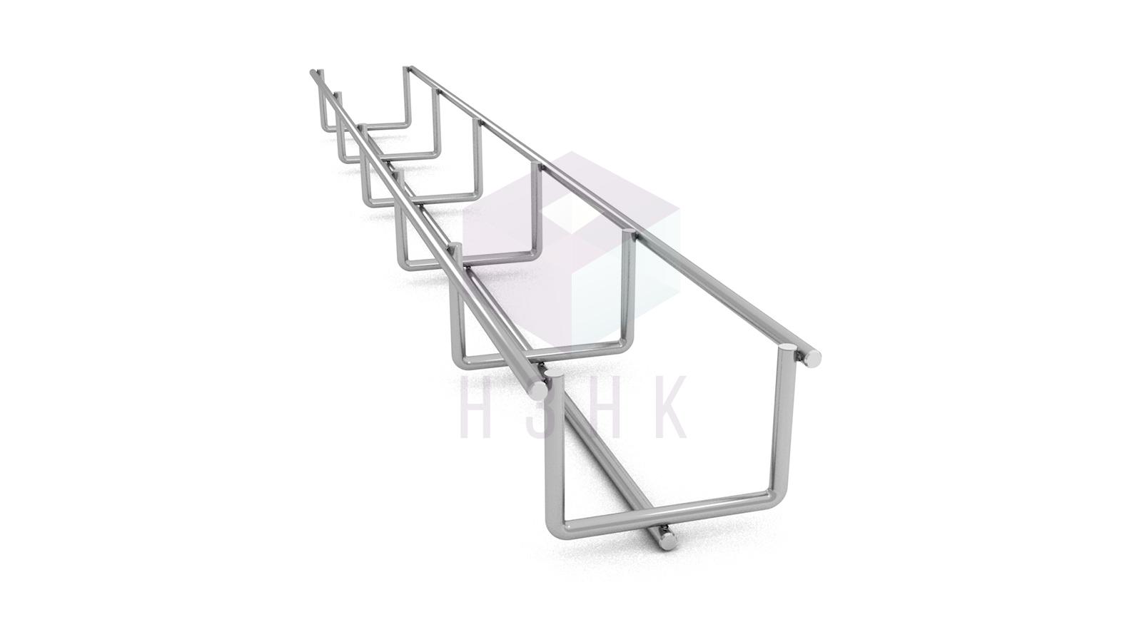 Лоток проволочный 50Х35Х3000(4) нержавеющая сталь