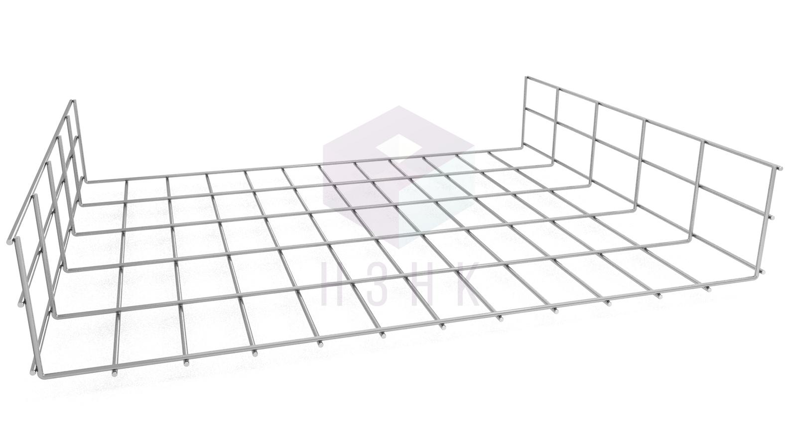 Лоток проволочный LPR600Х105Х3000(5) оцинкованный