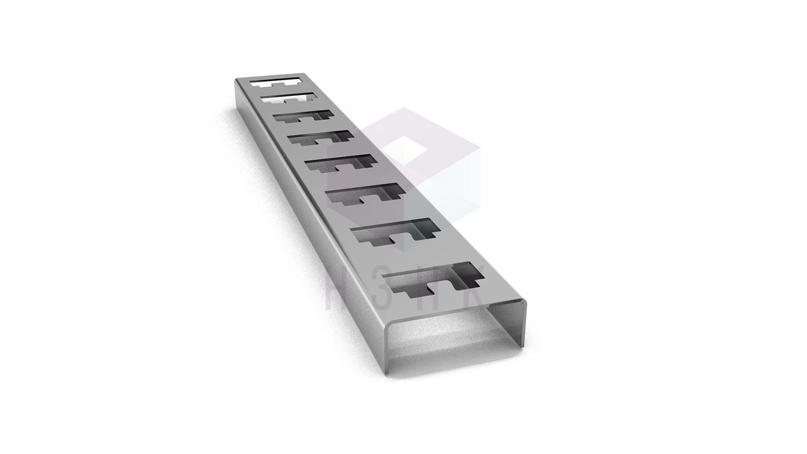 Стойка кабельная К1150(2.0) оцинкованная