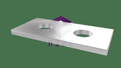 пластина прямоугольная 2 отверстия P28440