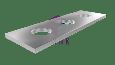пластина прямоугольная 3 отверстия P312440