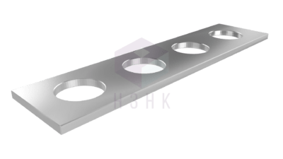 пластина прямоугольная 4 отверстия P416640