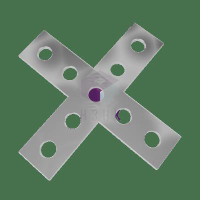 Пластина X-образная 9 отверстий PX9220